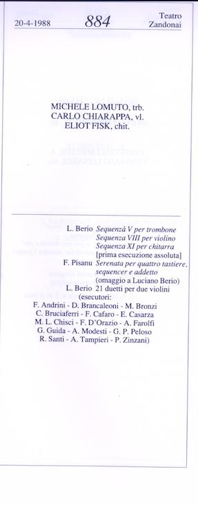 Berio 20 aprile 1988